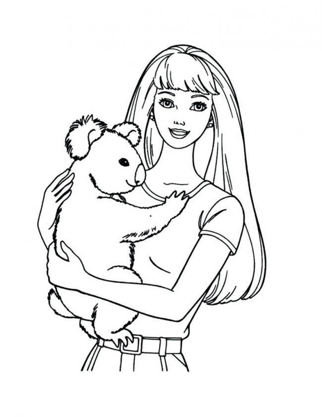 Barbie cùng cún con