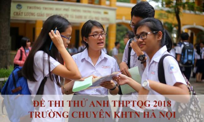 học sinh thi thử môn anh THP chuyên KHTN Hà Nội