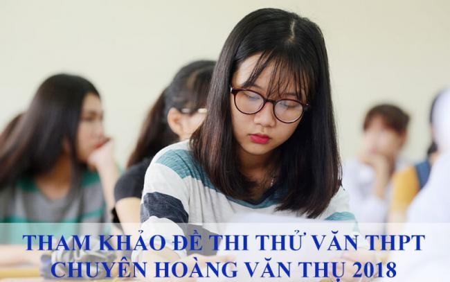 học sinh ôn tập thi thử môn văn thpt hoàng văn thụ