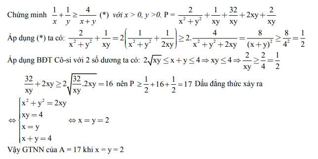Đáp án câu 4 đề thi tự luận môn toán vào lớp 10 Hưng Yên 2017