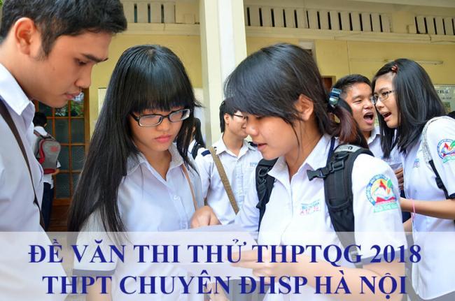 học sinh thi môn văn trường chuyên ĐHSP Hà Nội