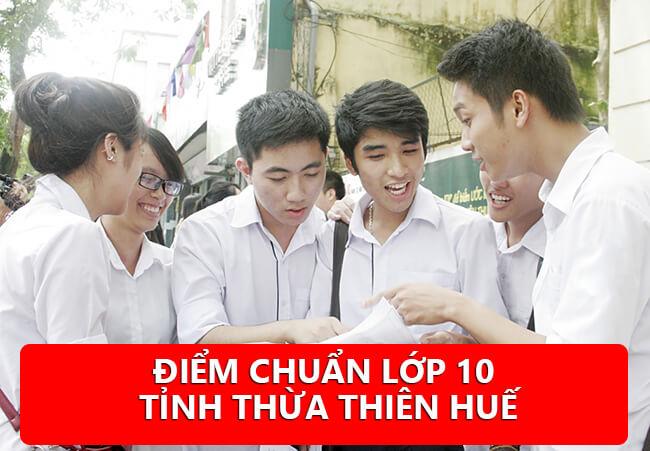 Xem điểm chuẩn tuyển sinh vào lớp 10 Thừa Thiên Huế 2020