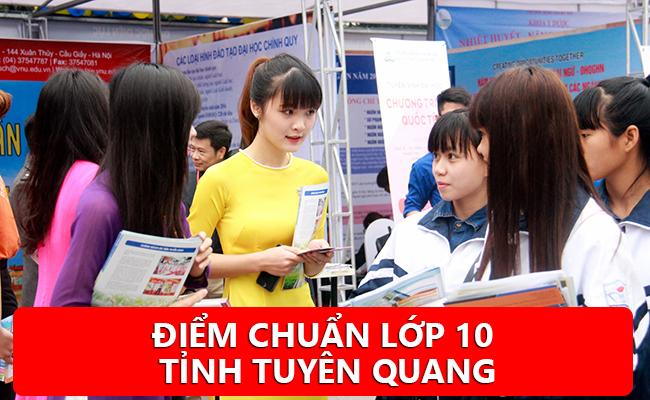 Điểm chuẩn vào 10 năm 2020 tỉnh Tuyên Quang