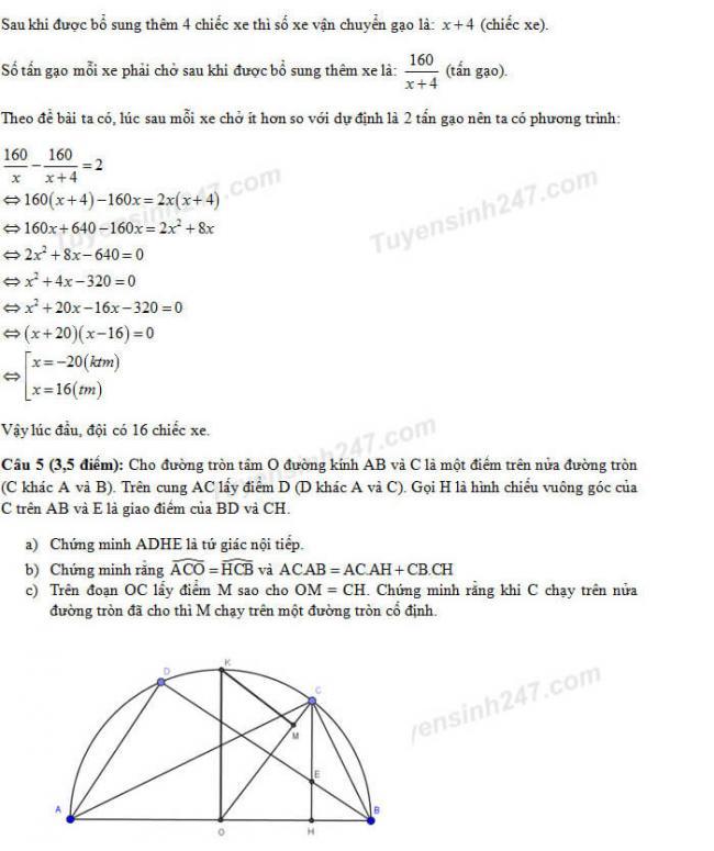 Đáp án đề thi Toán vào lớp 10 Đà Nẵng - Trang 4