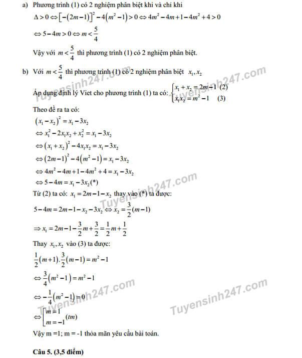 Giải tiếp câu 4 đề toán vào lớp 10 năm 2017 TPHCM