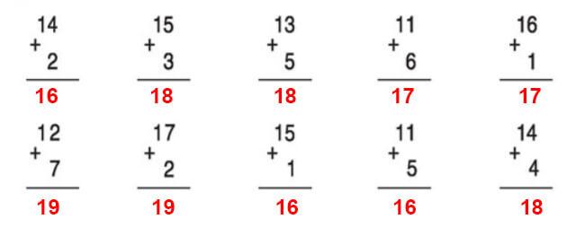 Đáp án bài 1 trang 108 sgk toán lớp 1