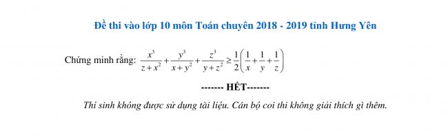 câu 6 trang 2 đề toán lớp 10 hưng yên 2018