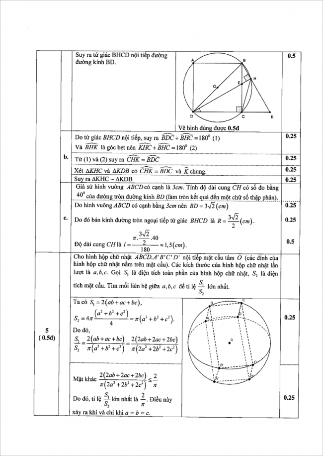 đáp án câu 5 đề toán thi vào lớp 10 kiên giang 2017