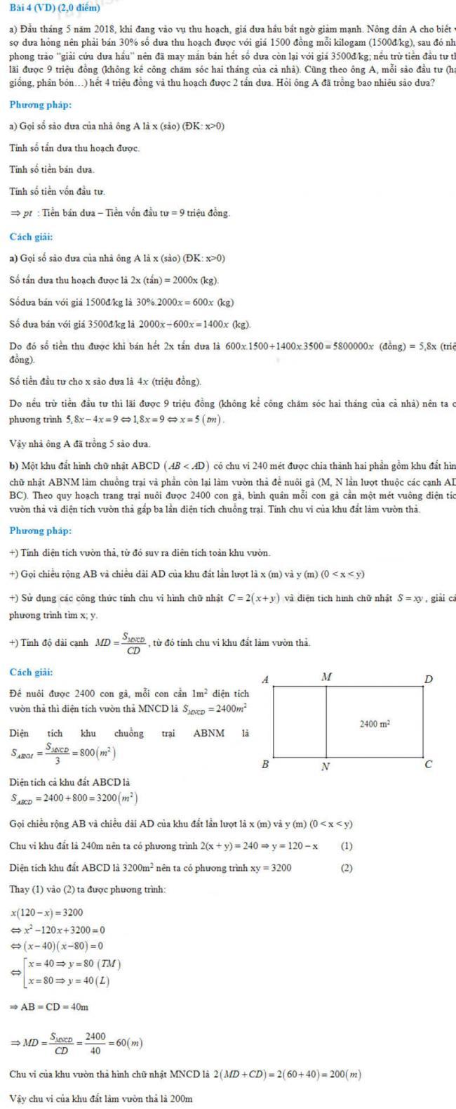 đáp án bài 4 đề thi toán không chuyên vào lớp 10 trường PTNK