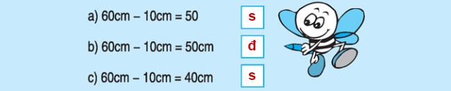 Đáp án bài 3 trang 132 SGK Toán lớp 1