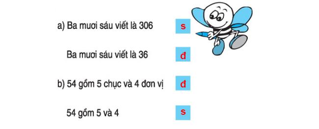 Đáp án bài 4 trang 139 SGK Toán lớp 1