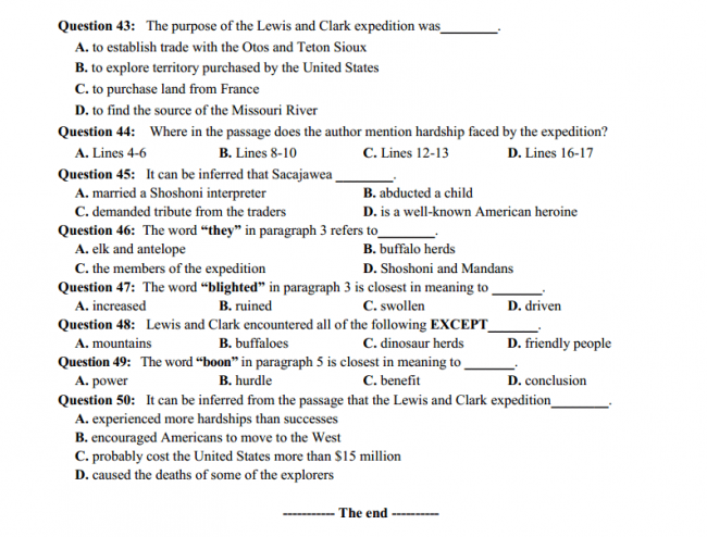 trang 6 câu 43 - 50 đề thi thử anh THPT quốc gia 2018 ĐH Vinh