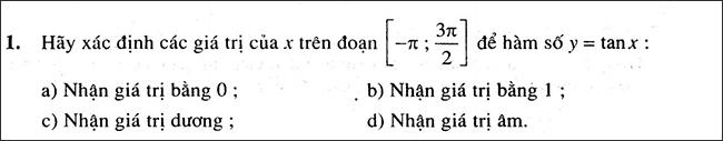 Đề bài đại số và giải tích 11 bài tập 1 trang 17