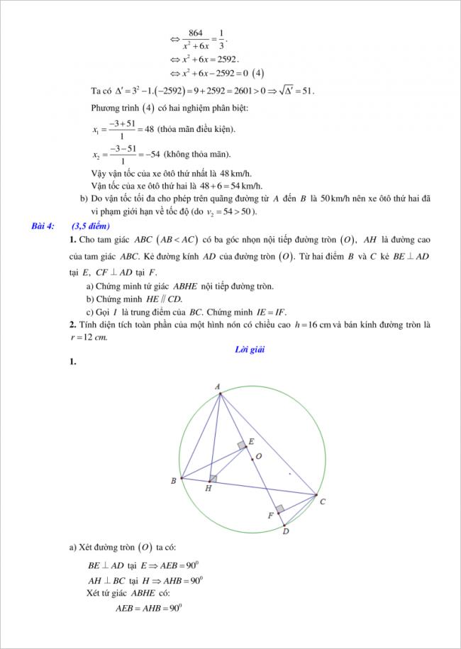 đáp án bài 4 đề toán vào lớp 10 tỉnh Hải Phòng 2018