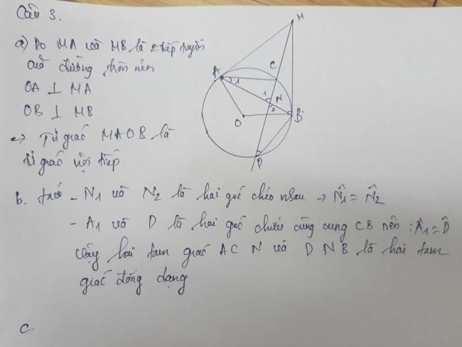 đáp án câu 3 tự luận đề toán phú thọ 2018