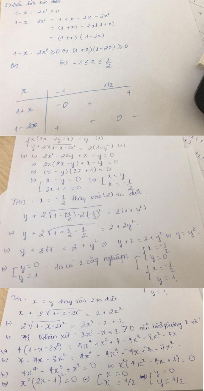 Đáp án câu 5 đề thi Toán vào lớp 10 tỉnh Nghệ An 2018