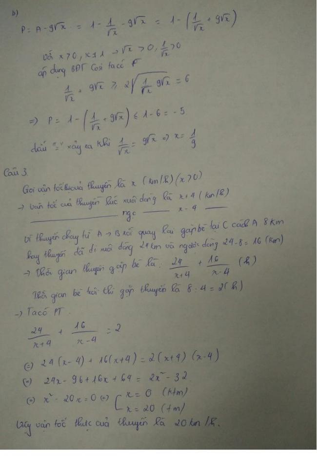 đáp án câu 3 đề thi môn toán vào lớp 10 tỉnh điện biên