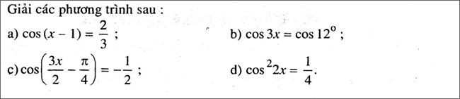 Đề bài 3 trang 28 SGK Đại số và Giải Tích lớp 11