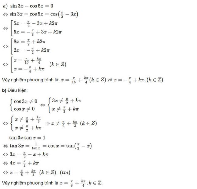 Đáp án bài 7 trang 29 sách giáo khoa đại số và giải tích lớp 11