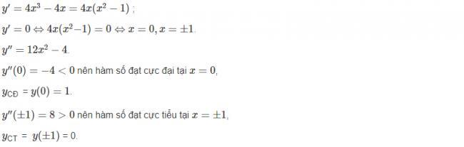 Đáp án câu a bài 2 trang 18 sgk giải tích lớp 12