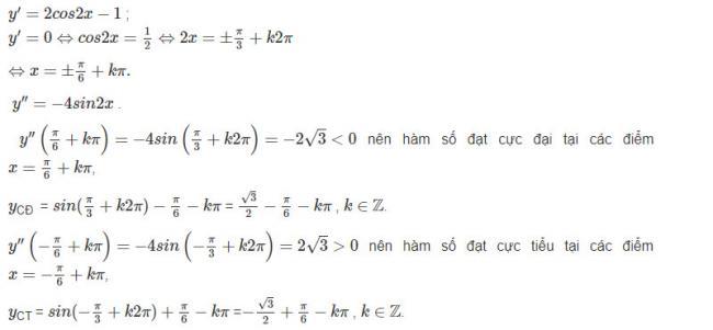 Đáp án câu b bài 2 trang 18 sgk giải tích lớp 12