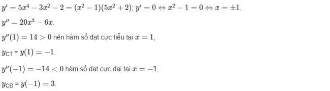 Đáp án câu d bài 2 trang 18 sgk giải tích lớp 12