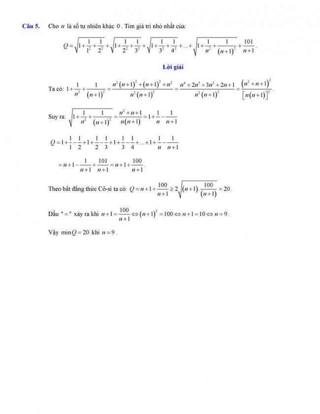 đáp án câu 5 đề toán thi vào lớp 10 tỉnh Đắk Lắk 2018