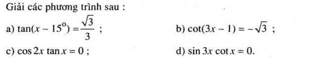 Đề bài 5 trang 29 SGK Đại số và Giải Tích lớp 11