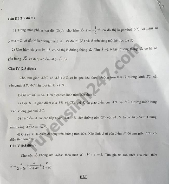 trang 4 đề thi Toán vào lớp 10 tỉnh Hậu Giang 2018
