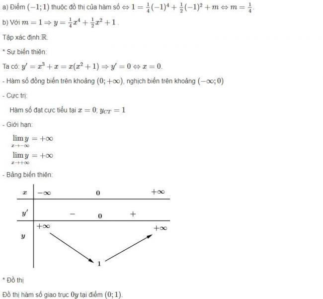 Đáp án bài 7 trang 44 sgk giải tích lớp 12 phần 1