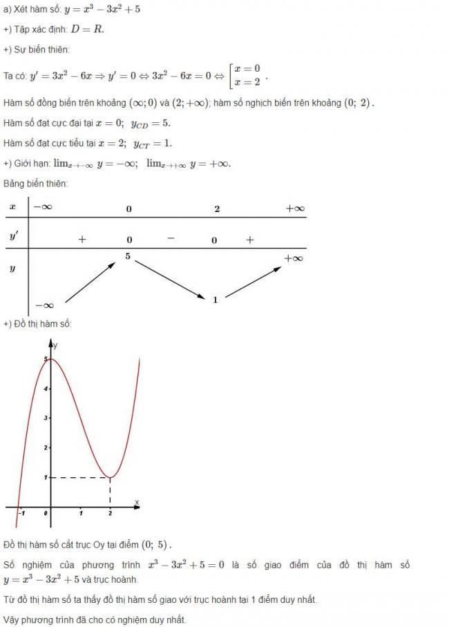 Đáp án câu a bài 4 trang 44 sgk giải tích lớp 12