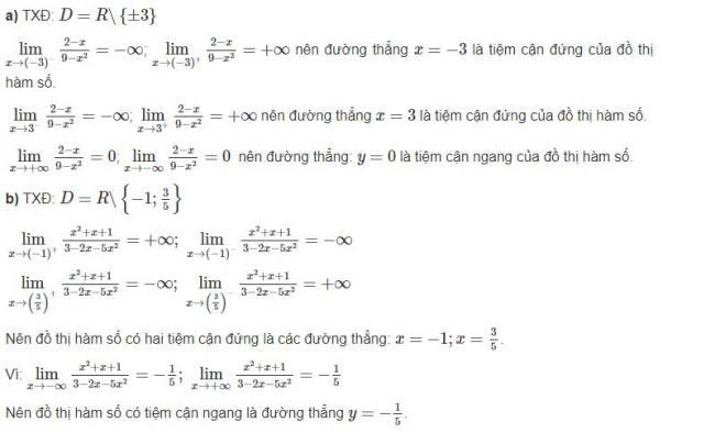Đáp án câu a và b bài 2 trang 30 sgk giải tích lớp 12