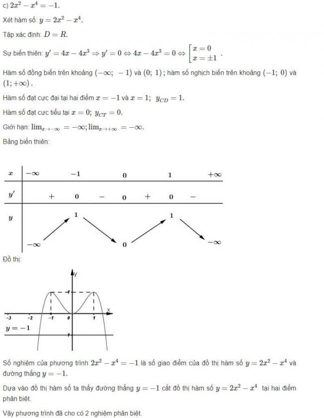 Đáp án câu c bài 4 trang 44 sgk giải tích lớp 12