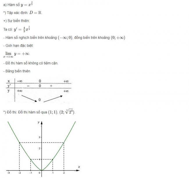 Đáp án câu a bài 3 trang 61 sgk giải tích lớp 12