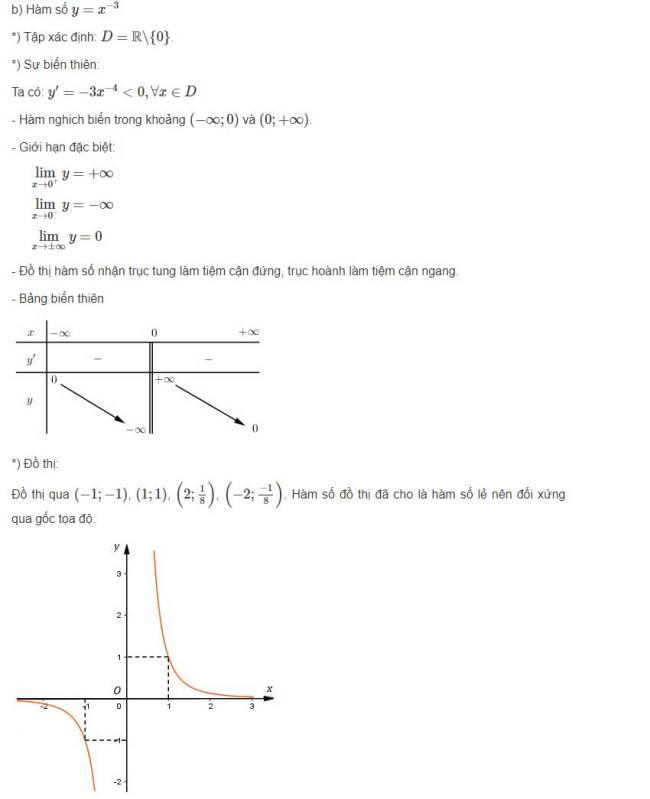 Đáp án câu b bài 3 trang 61 sgk giải tích lớp 12