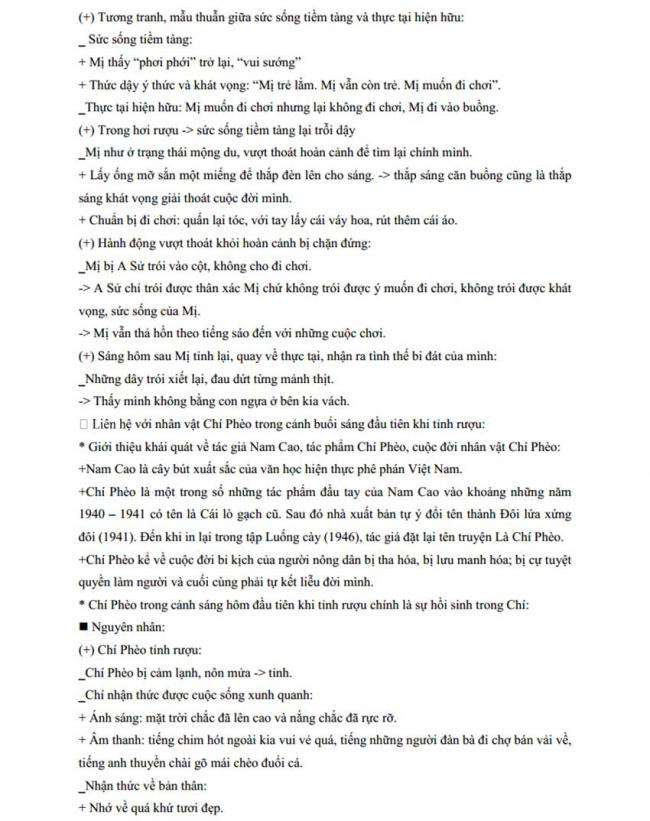 Đáp án Đề thi thử môn Văn thptqg năm 2018 trường Chuyên Thái Bình trang 5