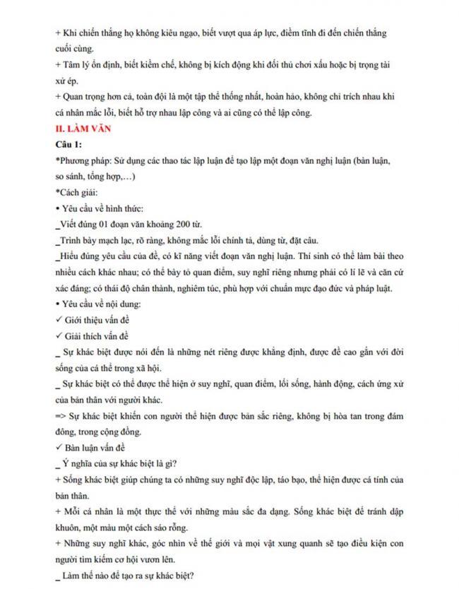 Đáp án Đề thi thử môn Văn thptqg năm 2018 trường Nguyễn Viết Xuân – Vĩnh Phúc lần 3 trang 2