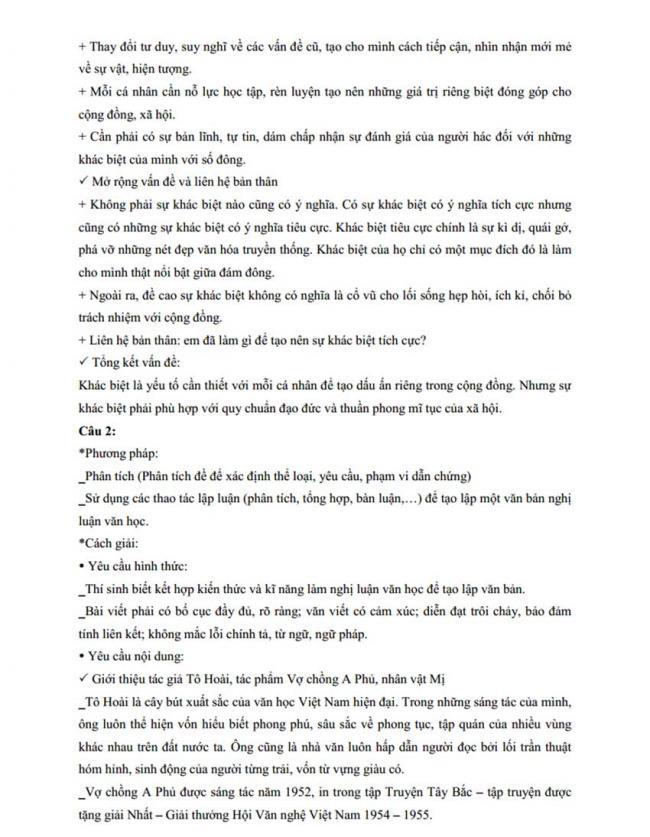 Đáp án Đề thi thử môn Văn thptqg năm 2018 trường Nguyễn Viết Xuân – Vĩnh Phúc lần 3 trang 3