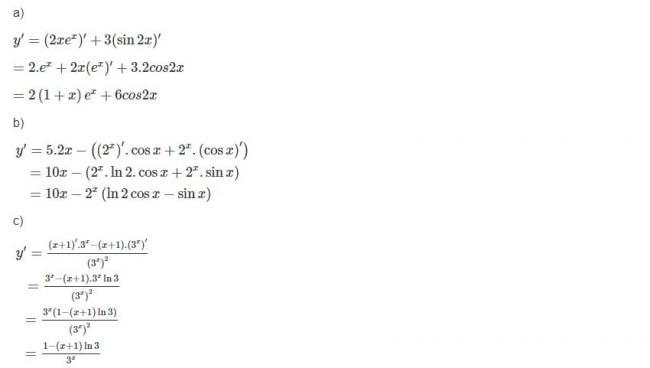 Đáp án bài 2 trang 77 sgk giải tích lớp 12