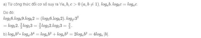 Đáp án bài 3 trang 68 sgk giải tích lớp 12