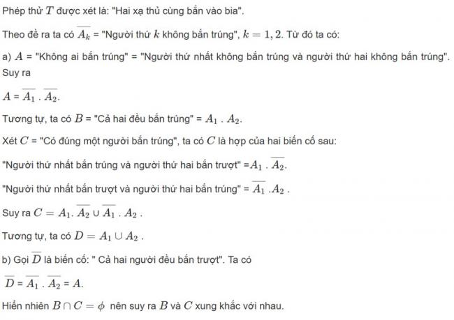 Đáp án bài 4 trang 64 SGK toán đại số và giải tích lớp 11