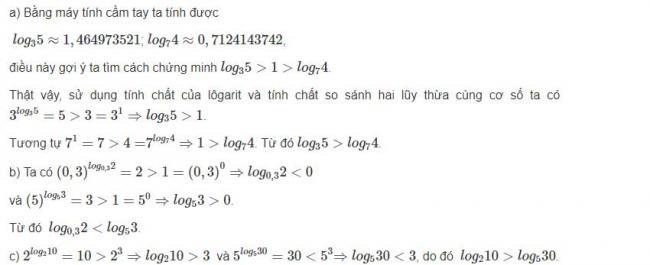 Đáp án bài 4 trang 68 sgk giải tích lớp 12