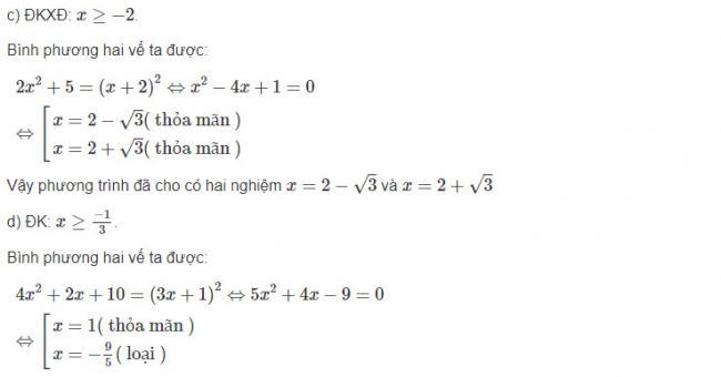 Giải toán đại số lớp 10 bài 7 trang 63 sgk