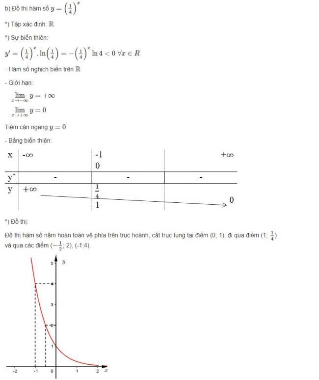 Đáp án câu b bài 1 trang 77 sgk giải tích lớp 12
