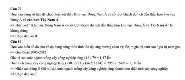 Đáp án Đề thi thử môn Địa lý thptqg năm 2018 trường Chuyên Lê Hồng Phong – Nam Định lần 2 trang 6