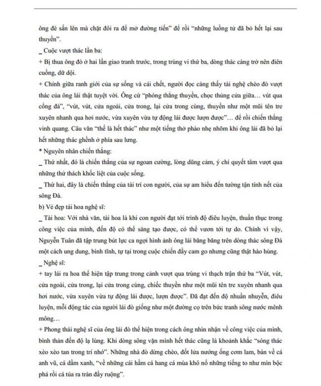 Đáp án Đề thi thử môn Văn thptqg năm 2018 tỉnh Hà Nam lần 1 trang 3