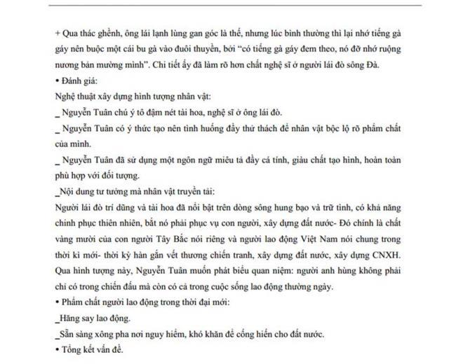 Đáp án Đề thi thử môn Văn thptqg năm 2018 tỉnh Hà Nam lần 1 trang 4