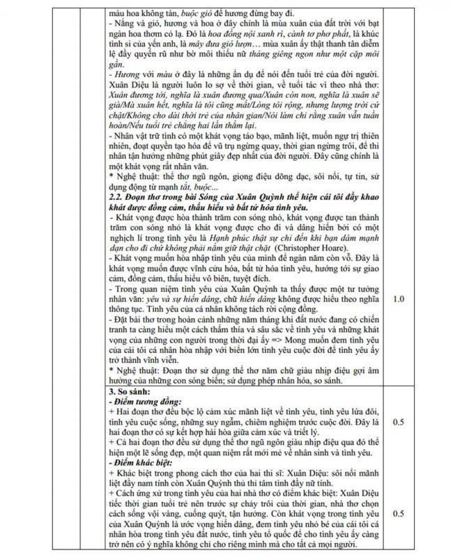 Đáp án Đề thi thử môn Văn thptqg năm 2018 trường Quốc Gia – Bắc Ninh trang 3