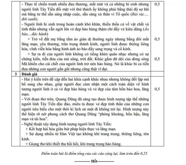Đáp án Đề thi thử môn Văn thptqg năm 2018 trường Phạm Công Bình – Vĩnh Phúc lần 1 trang 3