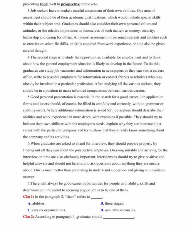 Đề thi thử môn Anh thptqg năm 2018 tỉnh Nam Định - trang 7